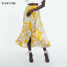 купить 2019 Newest Bohemian Flower Print Women's Skirt Korean long Skirt Women Single Breasted High Waist A-line Summer Beach Skirts дешево