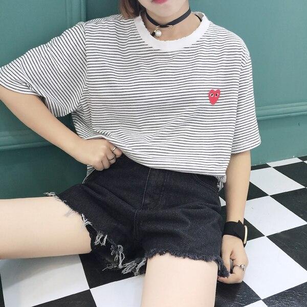 Japon Tarzı Yaz Kadın Denim Şort 2019 Yeni Kore Yüksek Bel Kot - Bayan Giyimi - Fotoğraf 2