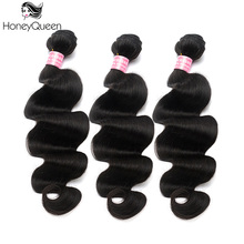 Malaysian Virgin Hair Body Wave 100% Human Hair Weave Bundles Honey Queen Hair Products 1 Pcs Hair Weaving Extensions