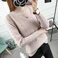 PEONFLY 2018 Autumn Winter Knitted Sweater Women Women Sweaters And Pullovers Female Crochet Jumper Pull Femme Black White