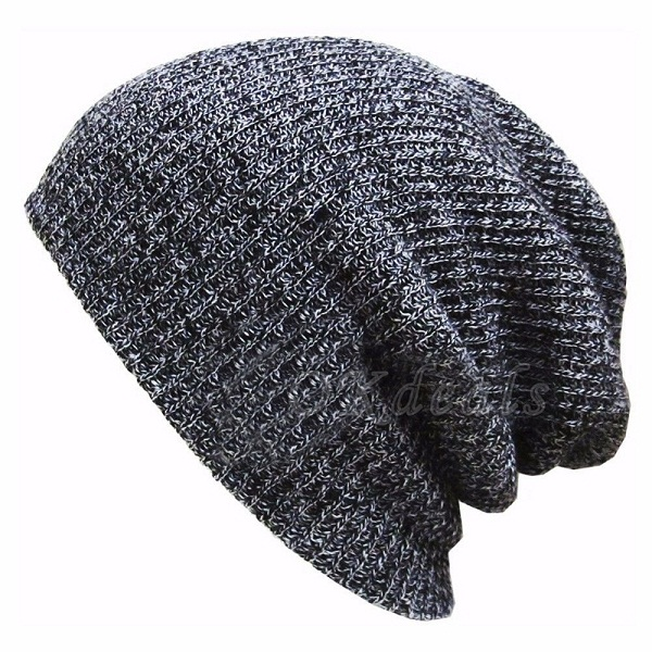 17bb5f87902 1PC Knit women girl s hat thick female cap Men s Baggy Beanie Oversize  Winter Warm Hats Slouchy Chic Crochet Knitted Cap