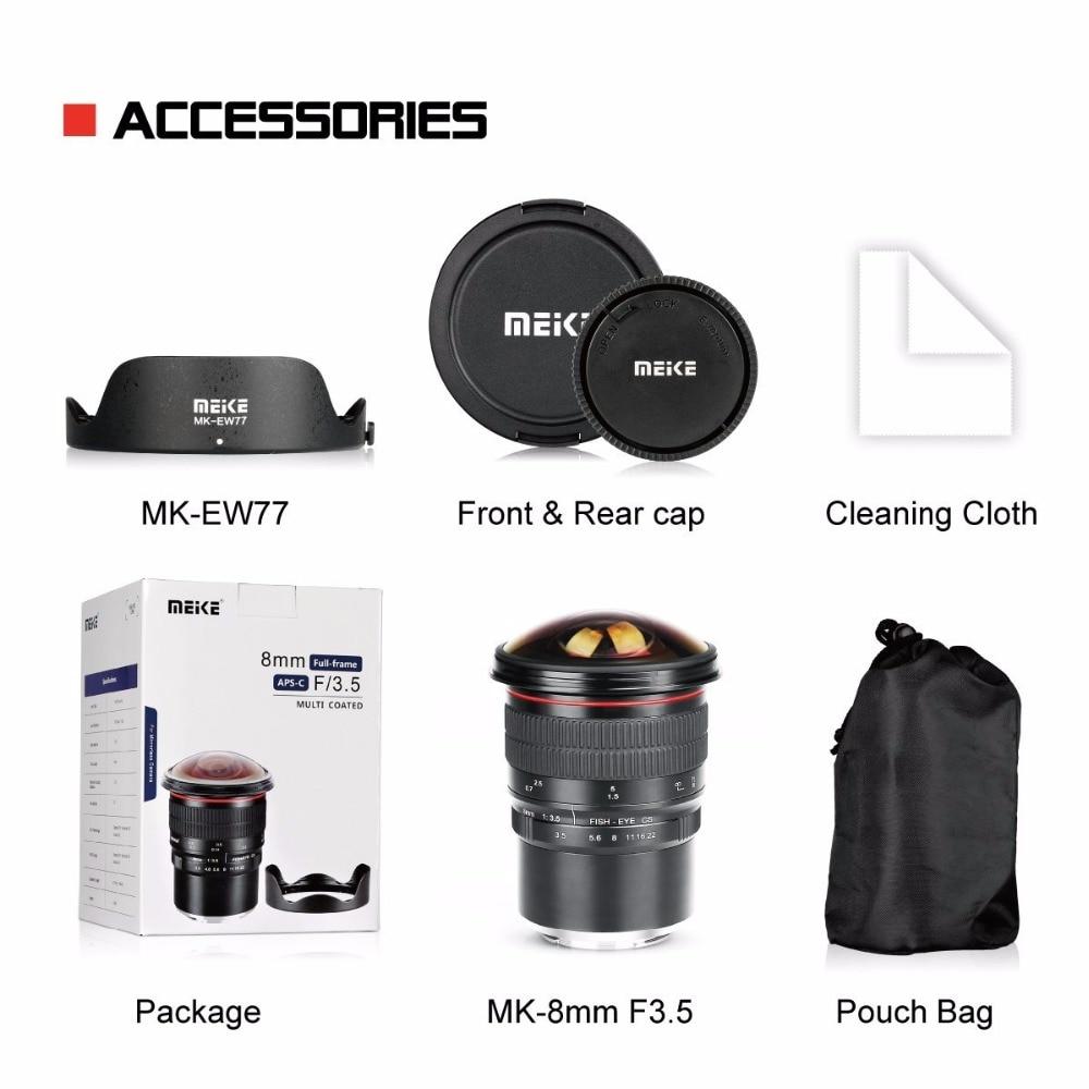 Meike 8mm f/3.5 Wide Angle Fisheye Camera Lens for Nikon D3400 D5500 ...