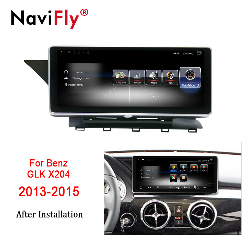 NaviFly  3G RAM 32G ROM 4G LTE car audio gps radio player For Benz GLK X204 2013-2015 with 10.25'' full touch free shipping