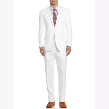 2018 Latest Coat Pants Design White Men Suits Custom Made Wedding Slim Fit Mens Suit 2Pieces Terno Masculino Jacket+Pants tuxedo