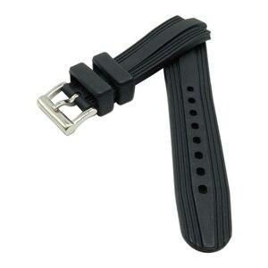 Image 4 - Correa de reloj de goma negra/silicona para buceo correa de reloj para ajuste BVLG 22mm X 7mm
