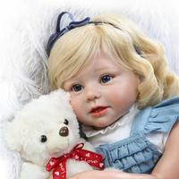 Новинка 2017 года 70 см Reborn завитки волос возрождается для маленьких девочек куклы силиконовая кукла подарок игрушки для девочек Juguetes Brinquedos