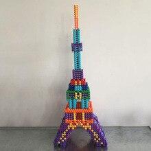 227 Pcs Unisex Crianças DIY Blocos de Construção de Montagem Modelo Colorido Conjunto Vara Crianças Presentes Brinquedos Educativos Criança