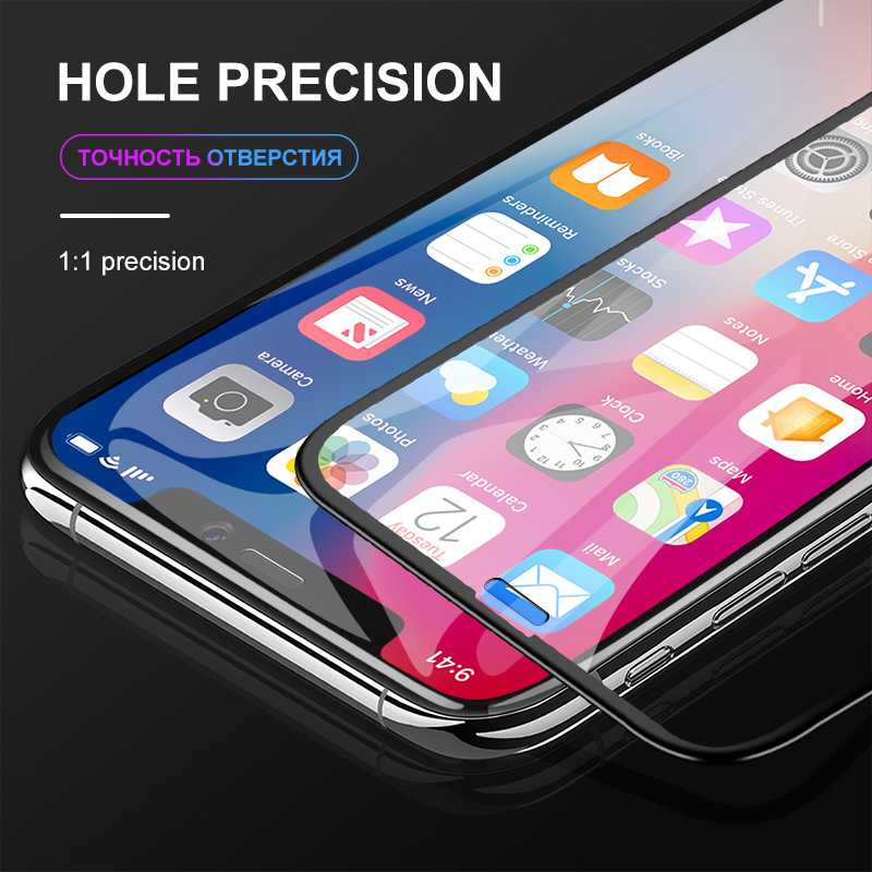 Suntaiho 9D Full coverage protective glass for iPhone Xr Xs Xs Max glass Screen Protector Glass on The For iPhone X 7 8 6 6sPlus