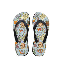 Customized Retro Cartoon Character Print Mens Flip Flops New Style Rubber Soft Shoes Outdoor Beach Men's Slippers Man Footwear(China)
