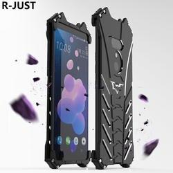 R-JUST для htc U12 плюс Чехол Роскошные Жесткий металлический Алюминий сплав противоударный Броня Телефон чехол для htc U12 + задняя крышка