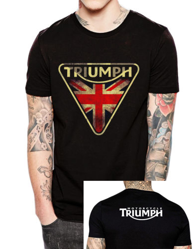 triumph motorcycle t shirt men two sides triumph vintage printed