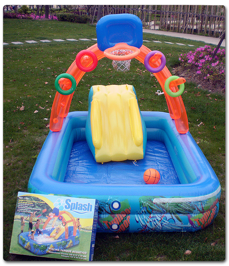Multifunctional Castle-Shape Inflatable Paddling Swimming Pool For Kids Made Of Nontoxic High Density Tough PVC Plastic Playpool