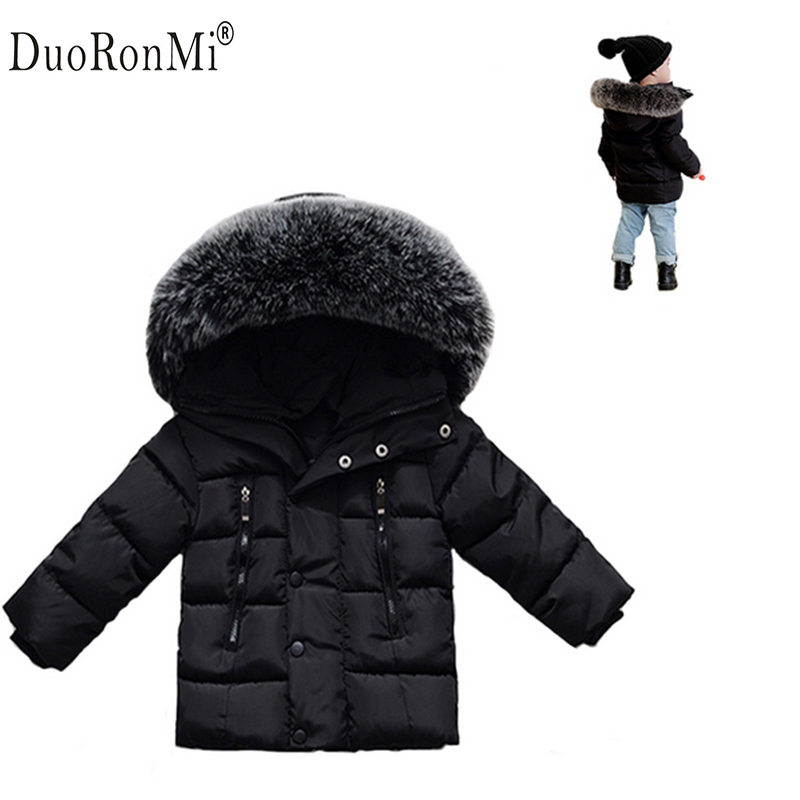 2017 Winter Baby Boys Jacket Winter Clothes Girls Thick Warm Outwear Cotton Pad Kids Snowsuit Children Hooded Costume Brand Baby 2016 winter boys wadded jacket kids hooded spider printed thick fleece red blue coat toddler warm outwear children clothes 2 4t