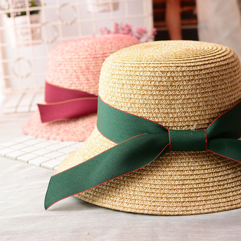 Ymsaid Summer Hats Women s Straw Hat For Beach Sun Hat Travel Ribbon Bucket  Hat Panama-in Sun Hats from Apparel Accessories on Aliexpress.com  bee94e31cb53