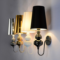 Modern Brief Wall Lights For Bedroom Study Simple Bedside Lamp Wall Lamps E27 Sconce Black White