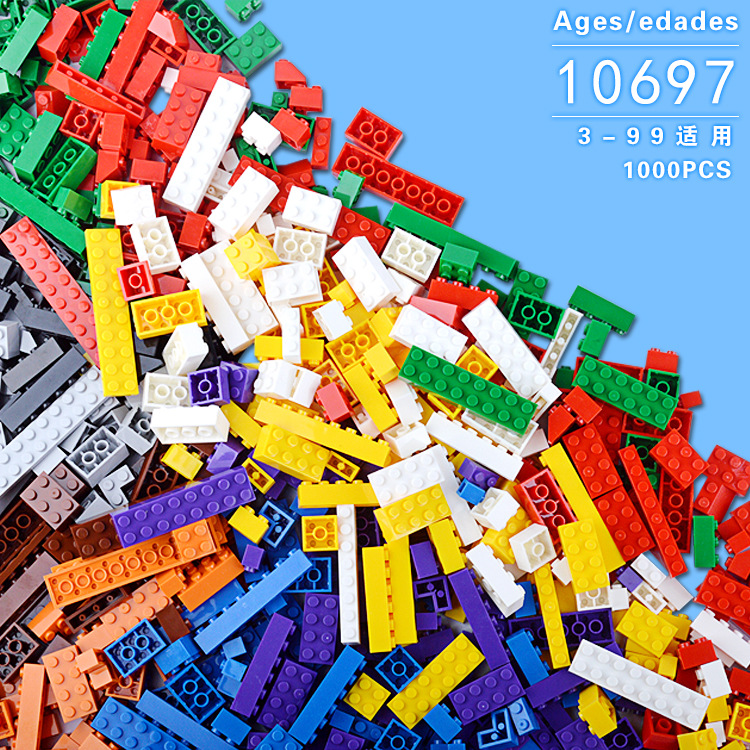 AIBOULLY Building Blocks 1000pcs DIY Creative Bricks Toys for Children Educational Compatible with Gift Bricks Free Shipping 2000g electronic balance measuring scale with different units counting balance and weight balance