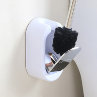 Fashion Creative Wall Mounted Toilet Brush Set With A Base Stainless Steel Handle Automatic Switch Toilet