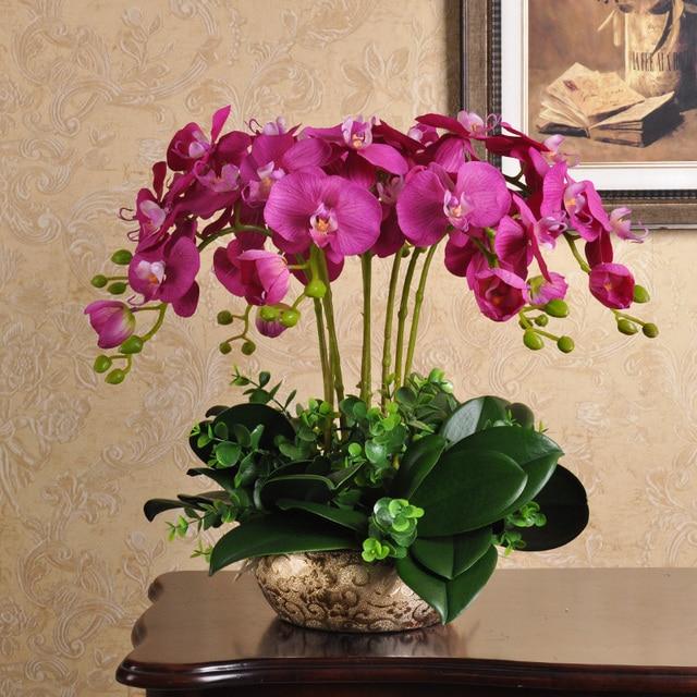 Xg Bunga Simulasi Merangkai Pot Anggrek Meja Ruang Tamu Dekorasi Interior