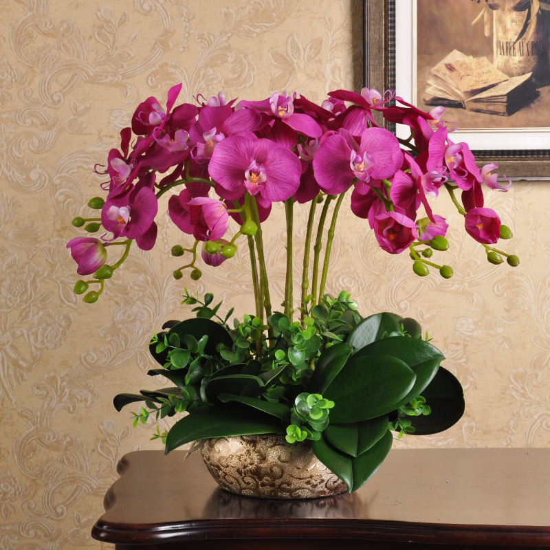 Xxxg Flower Simulation Simulation Pots Flower Arrangement Table Living Room Interior Decoration