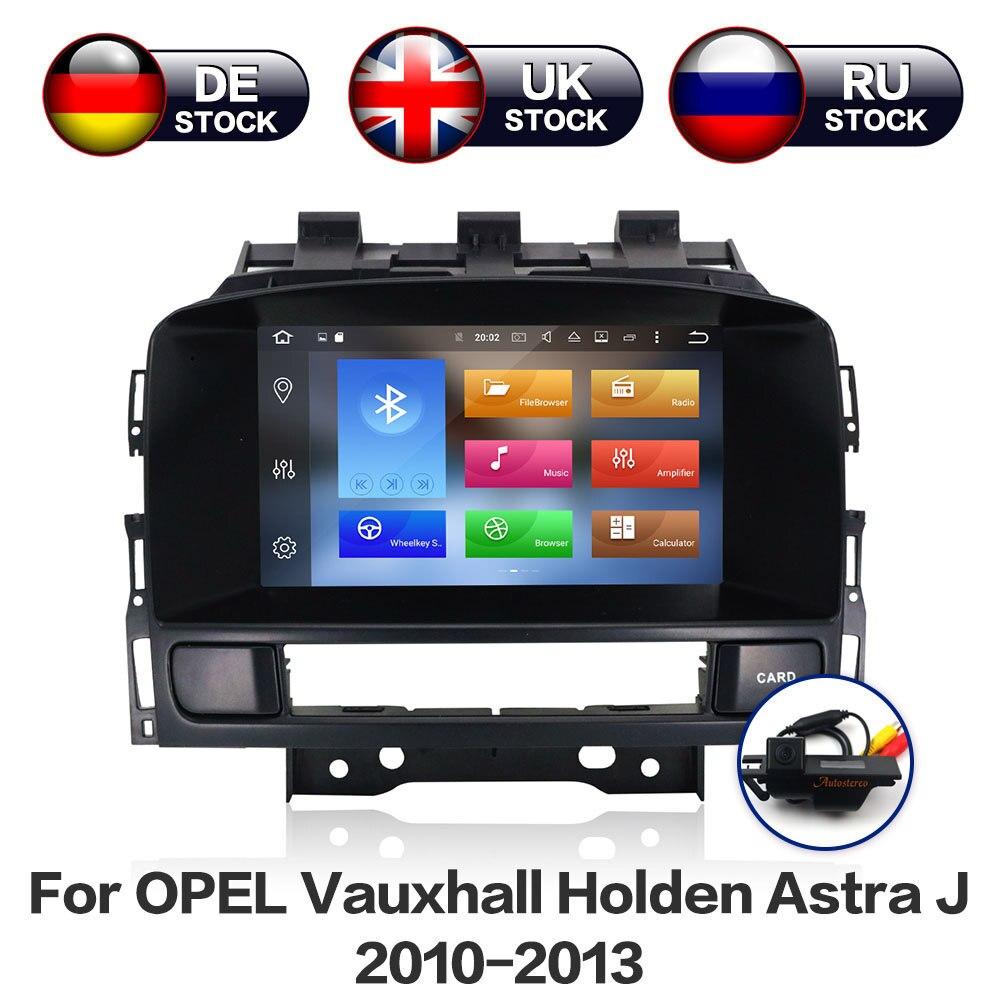 Android 8.1 8 Noyau De Navigation De GPS de Voiture Écran Pour Opel Vauxhall Holden Astra J radio android 2010-2013 CD300 CD400 Caméra Libre