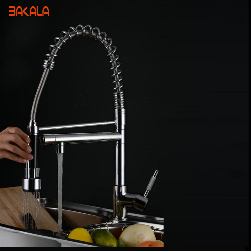 High quality fashion latest new style brand Torneira Cozinha kitchen faucet pull out spray tap dual