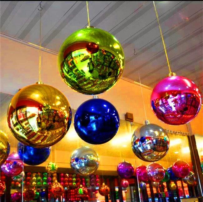 տաք 0.8 մ նորաձևության Սուրբ Ծննդյան դեկորացիա փչովի հայելիի գնդակը բեմի դեկորացիայի համար