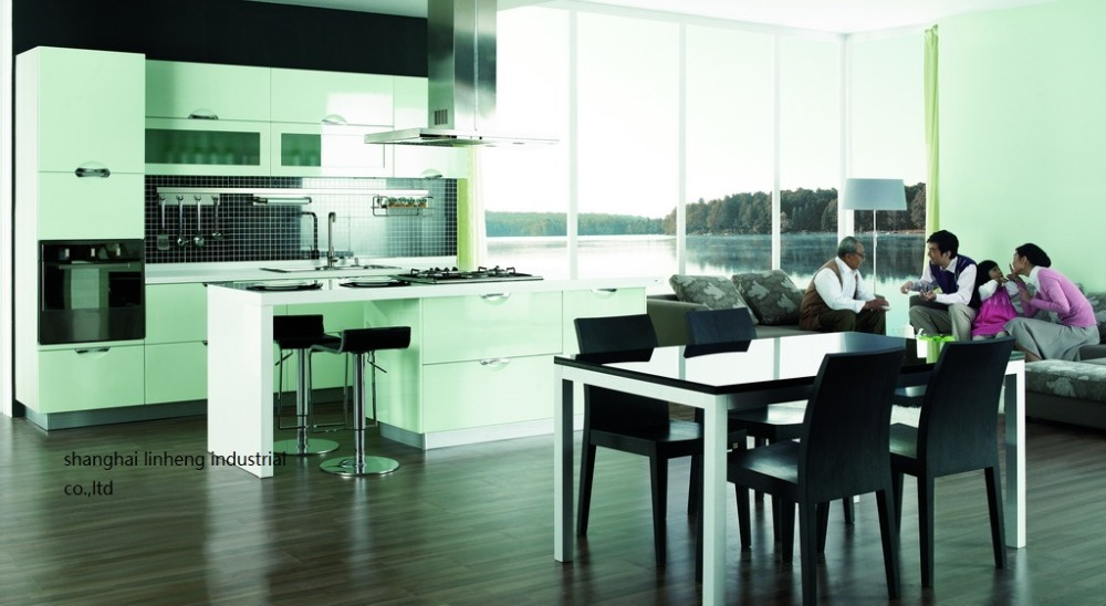 High Gloss/lacquer Kitchen Cabinet Mordern(LH-LA059)