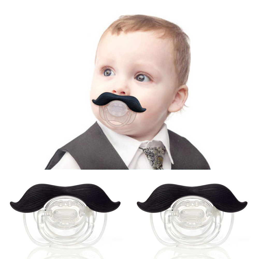Silicone Funny Baby Mustache Pacifier Dummy Nipple Teethers Toddler Infant Baby Pacy Orthodontic Teeth Tools Best
