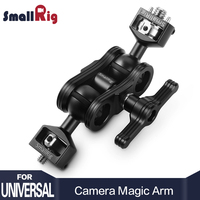 SmallRig Dual DSLR Camera Magic Arm with Double Ballheads( Arri locating Pins and 1/4 Screw ) For Director Monitor Support 2115