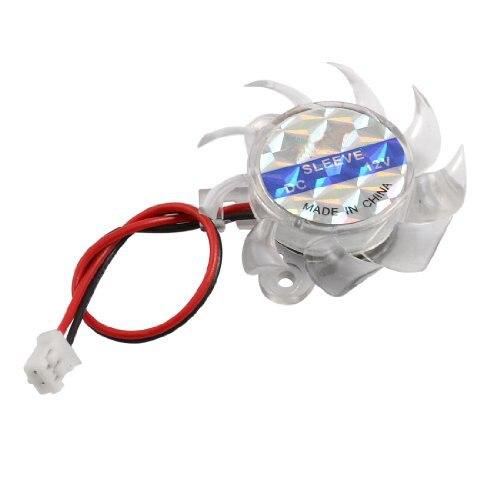 GTFS Hot New Clear Plastic font b Mini b font Cooling Fan Heatsink Cooler DC 12V