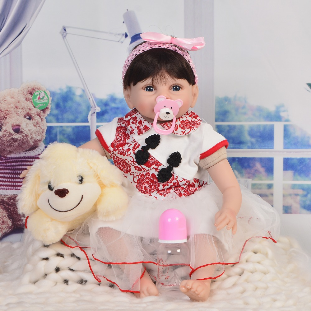 22Silicone Reborn Dolls lifelike soft silicone vinyl newborn toddler toys bebe dolls menina Toys Kids surprise Birthday Gifts22Silicone Reborn Dolls lifelike soft silicone vinyl newborn toddler toys bebe dolls menina Toys Kids surprise Birthday Gifts