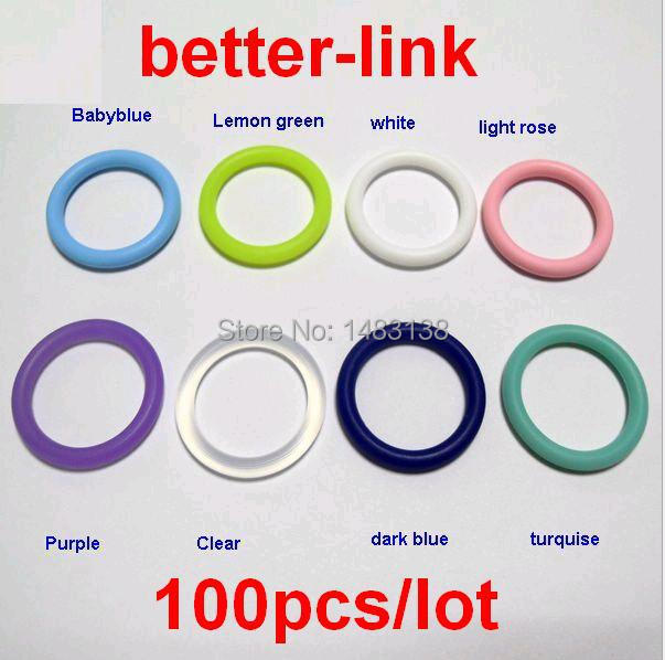 100pcs lot Silicone Mam Adapter O Ring Pacifier Dummy Ring 21mm 8 Color Choice Food Grade Silicone in Jewelry Findings Components from Jewelry Accessories