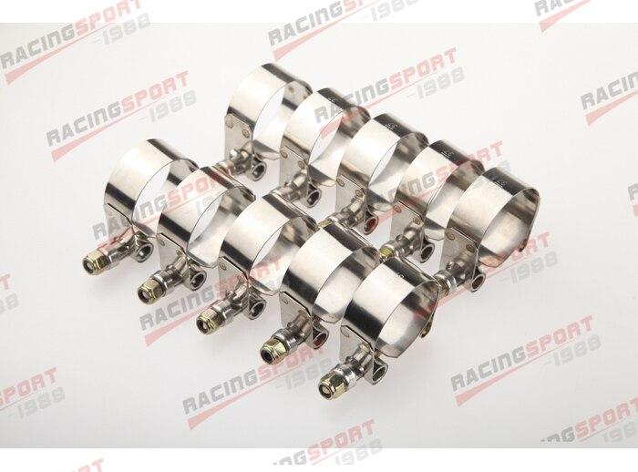 Pakke med 10stk-2 '' T BOLTKLAMPER Turbo-rørslangekobler rustfrit - Bilreservedele - Foto 2