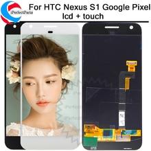 """חדש עבור 1920x1080 HTC נקסוס S1 גוגל פיקסל LCD תצוגת מסך מגע Digitizer עצרת החלפת 5.0 """"Google פיקסל LCD"""