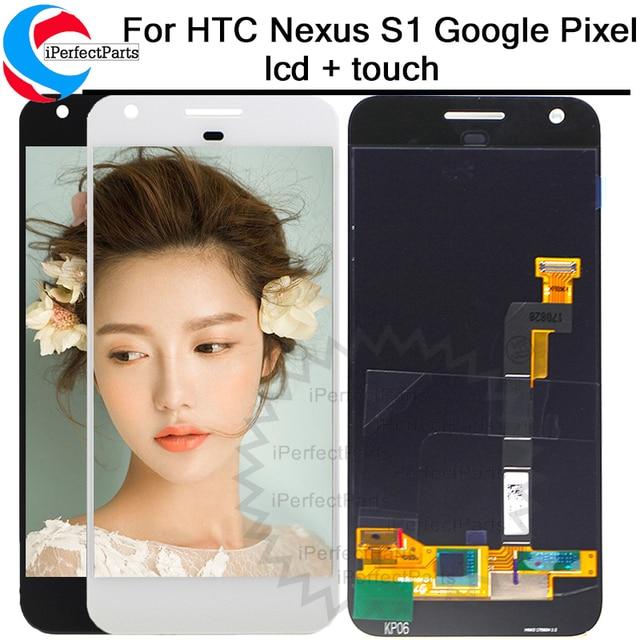 """Nuevo para 1920x1080 HTC Nexus S1 Google pixel pantalla LCD reemplazo de la Asamblea del digitizador de la pantalla táctil 5.0 """"Google pixel LCD"""