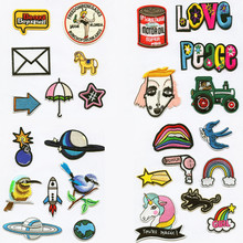 Nature Bird Peace Love Earth Appliqued Patchwork Patch Embroidered Iron On Patches For Clothing Close Shoes Bags Badges