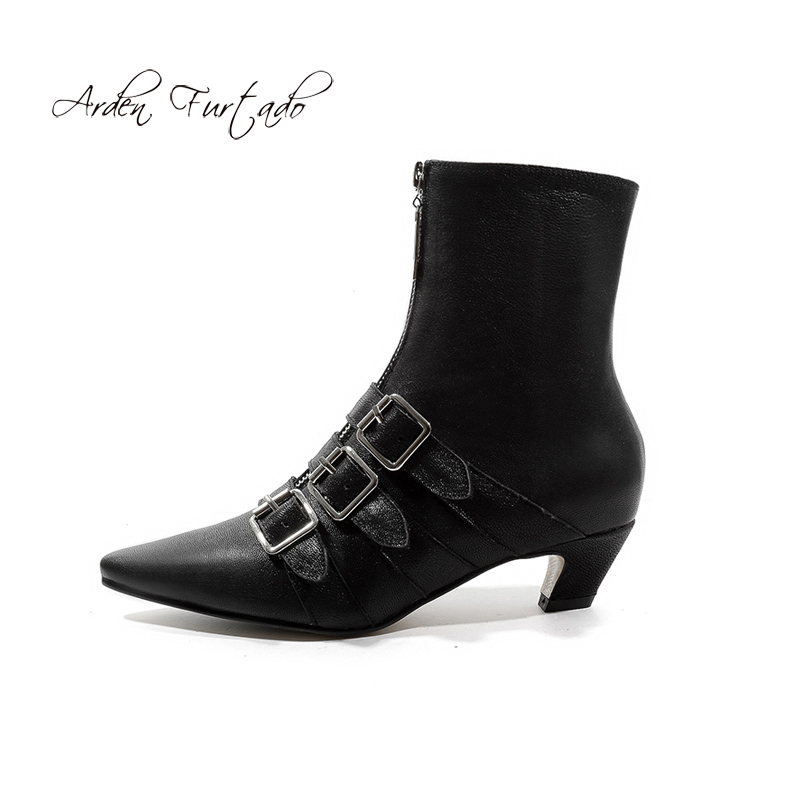 Pointu Furtado De Bottines Mode Taille white Femme 2018 Black Dames 42 Chaussures Automne Boucle Grande Bout Zipper Arden Hiver Bfdq00w
