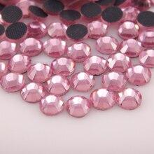 цена на High Glitter Pink Hotfix Rhinestones SS6-SS30 1440pcs All colors HotFix Flatback DMC Glue back Iron On For Garment Dresses