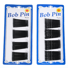 60Pcs Fashion Black Women Lady Bobby Pins Invisible Wave Hair Grips Salon Barrette Hairpin Girl Hair Clips Hair Accessories Hot