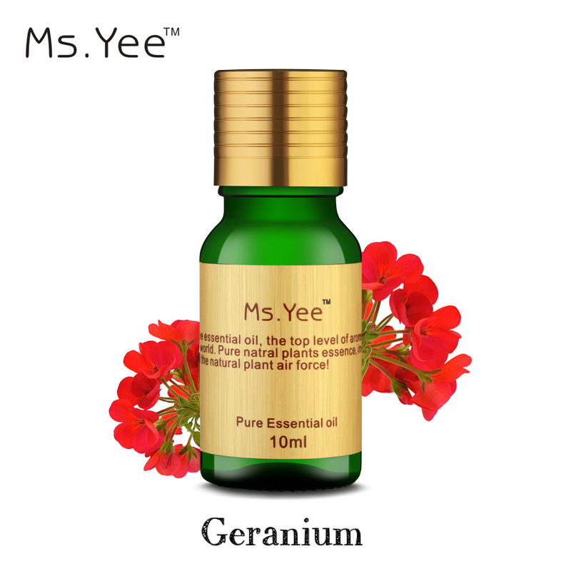 Pure Geranium Essential Oils for <font><b>Skin</b></font> Care Anti Acne treatment Sweet Smell Natural Scented Plant SPA Aromatherapy Aromatic Oil