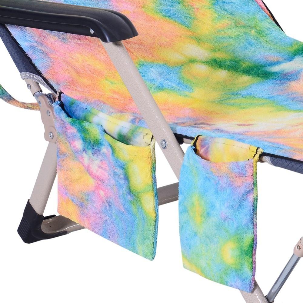 Toalha colorida da cadeira da natação com