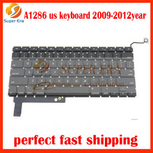 A1286 us keyboard for macbook pro 15inch A1286 USA clavier without backlight backlit 2009 2010 2011 2012year perfect testing