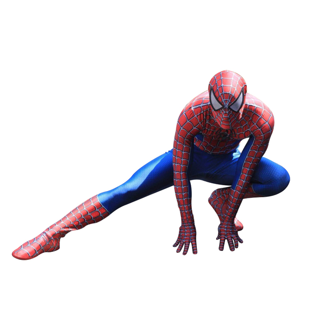 New Spiderman Costume 3D Printed Kids Adult Lycra Spandex Spider-man Costume For Halloween Mascot Cosplay Free Shipping