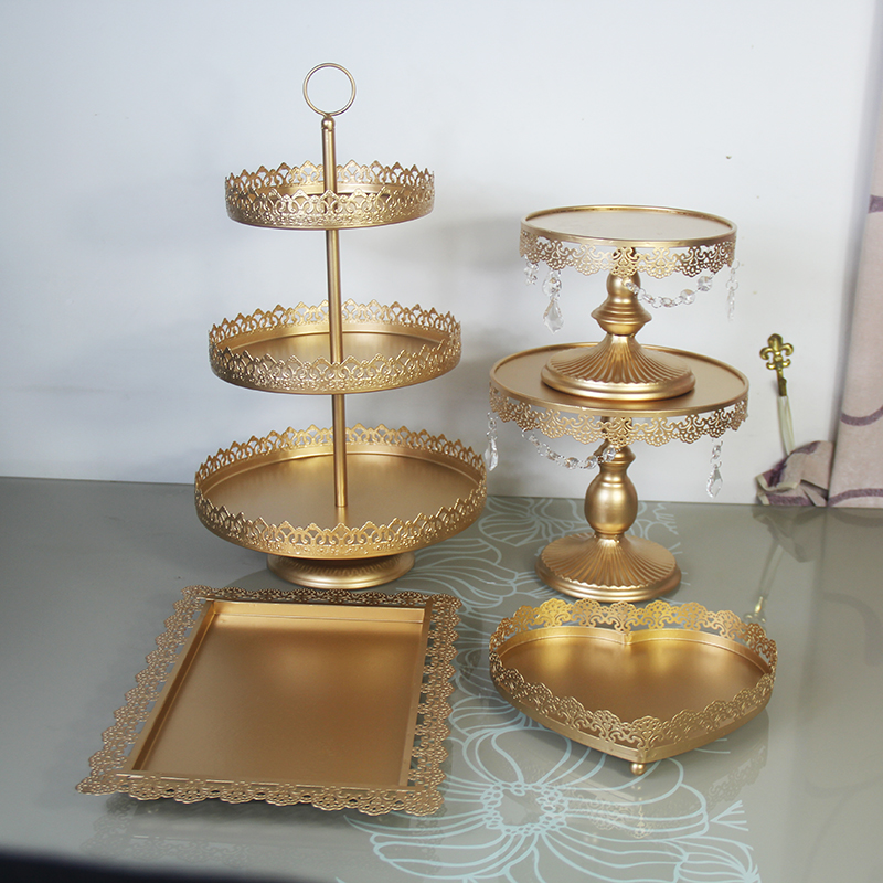 Wedding Cupcake Stand Ideas: 5 Pieces Cupcake Stand Gold Wedding Party Decoration