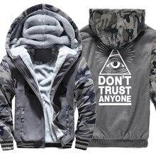 No confiar en ANYNOE Illuminati ojo que todo lo ve raglán impresión  sudaderas con capucha de los hombres 2017 nueva moda Hip Hop. dfa9623cb68