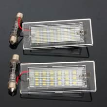 2X oświetlenie tablicy rejestracyjnej 18 żarówki LED samochodowa tablica rejestracyjna lampa światło do stylizacji samochodu źródło dla BMW X5 E53 X3 E83 2003 2004 2005 - 2010