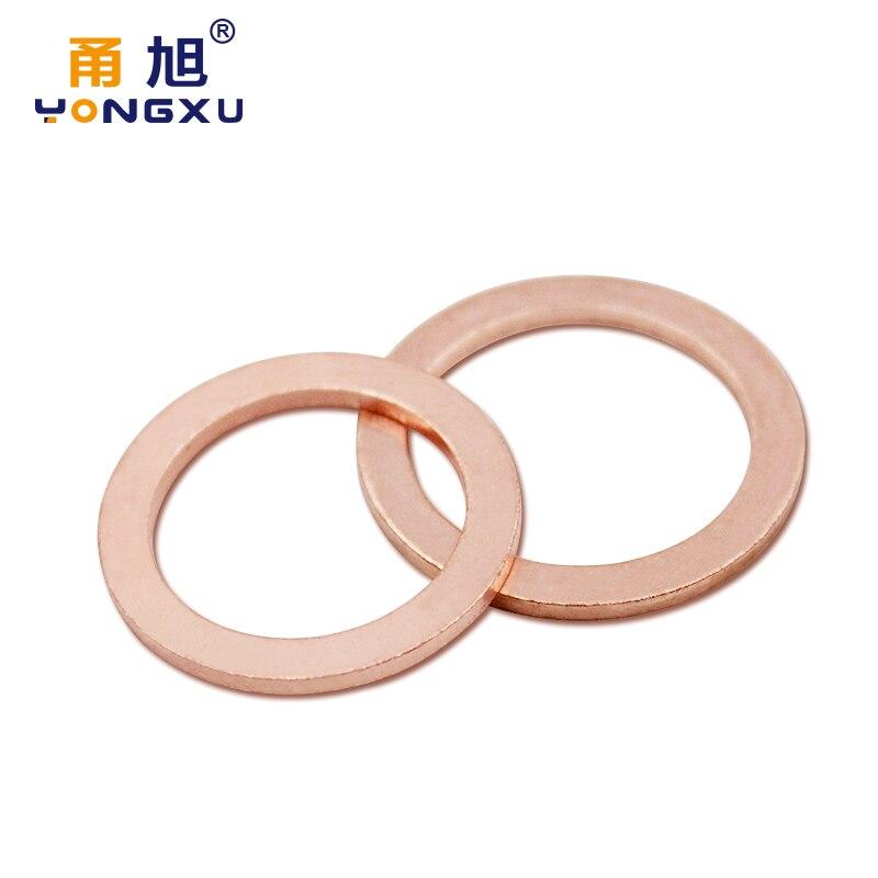 110pcs Metric Sealing Copper Washers Diy Hardware Box //Assortment DIN 7603