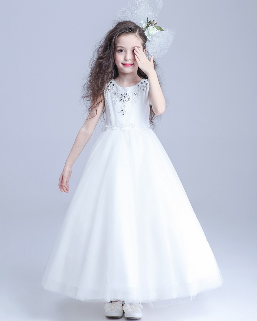New organza a line flower girls dresses simple kids wedding party new organza a line flower girls dresses simple kids wedding party dress sleeveless scoop tank appliques beads for girls in flower girl dresses from weddings izmirmasajfo