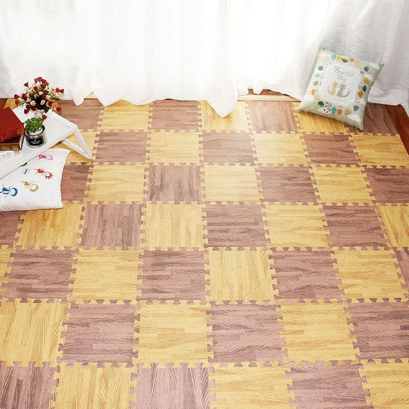30cm Kindergarten Puzzle Floor Mat Home Bedroom Wood Grain Mosaic Climbing Mat Eva Non-slip Children Foam Floor Mat