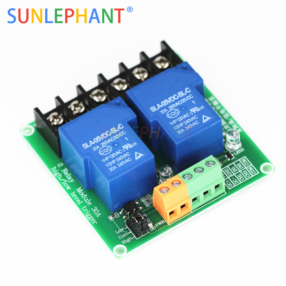 5V 12V 30A High Current Single 1 Channel Relay Module Optocoupler Isolation
